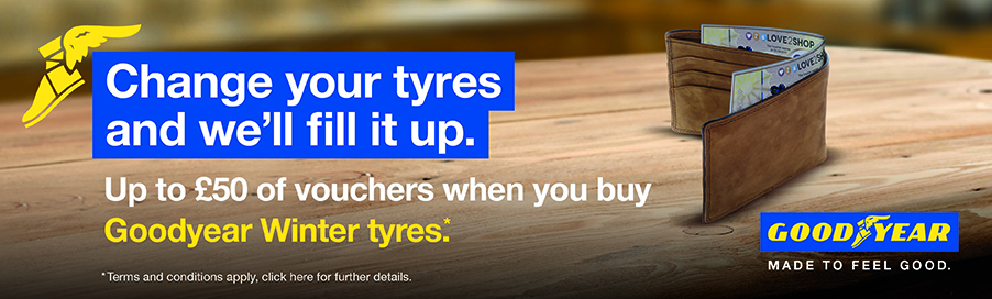 Free vouchers with Goodyear winter tyres