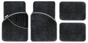 Michelin Carpet Car Mat 4 Piece set - Black