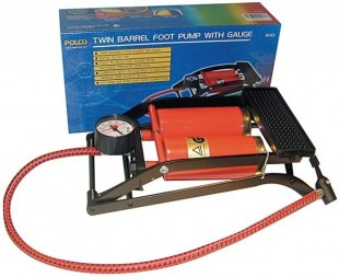 Polco Twin Barrel Foot Pump